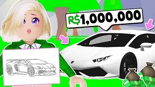 WHATEVER YOU DRAW, I'LL BUY IT CHALLENGE ON BLOXBURG! (Roblox)