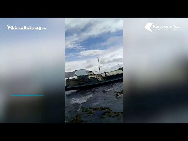 Kapal Terdampar di pantai Sancang Garut ditemukan 5 mayat di duga korban pembunuhan