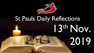 Daily Reflection for 13th November 2019