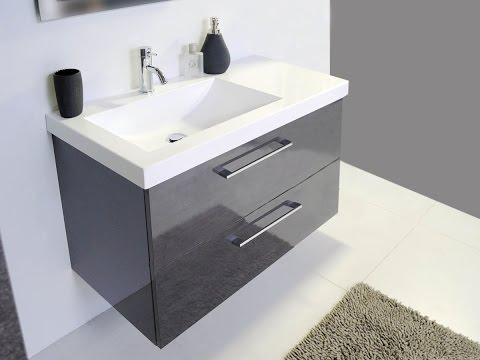 Wall Hung Vanity Unit with Ceramic Basin UK
