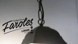 Faroles Lorain serie vintage y bombilla efecto fuego | Barcelona LED