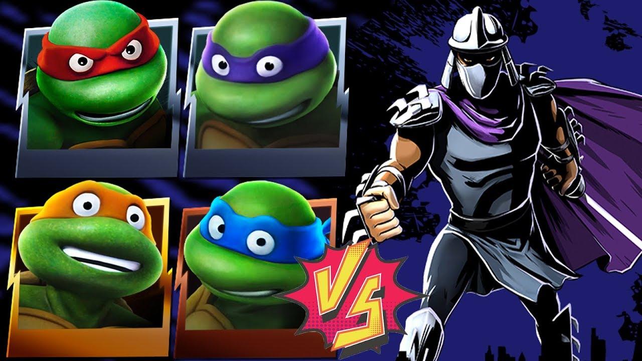 Classic Turtles VS Classic Shredder TMNT Legends YouTube
