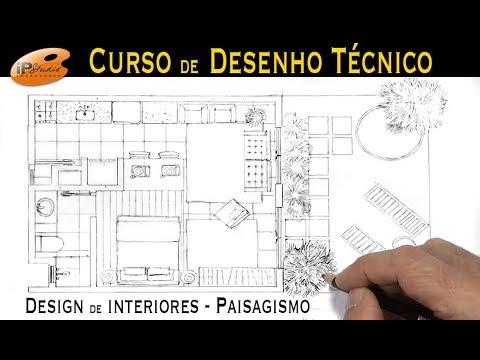 Desenho Tecnico Design De Interiores E Paisagismo Curso De