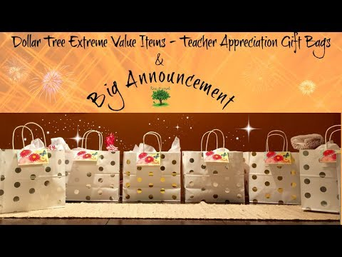 DOLLAR TREE HAUL | SHOP WITH ME | Teacher Appreciation Gift Bags | May Part-6