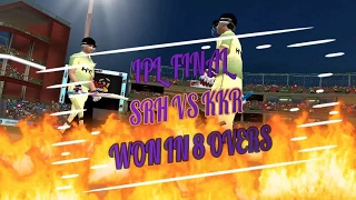 WCC2 IPL final srh vs kkr won in just 8 over | how to take quick wickets in ipl final