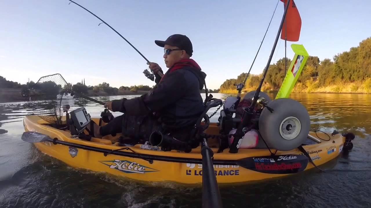 Hobie kayak fishing sacramento ca youtube for Youtube kayak fishing