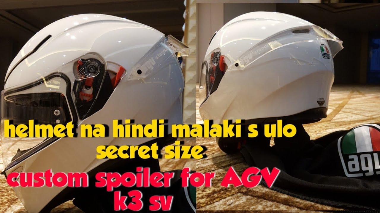 Agv K3 Sv Euro Fit Vs Asian Fit Helmet Review Sizing Guide Agv Helmet Spoiler Youtube