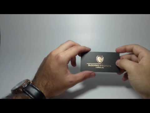 Cartões de Visita - Hot Stamping