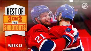 Best 3-on-3 Overtime and Shootout Moments from Week 12 | NHL