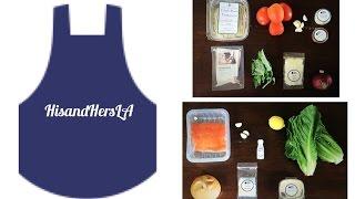 Hisandhersla Kitchen - Chicken Fettuccine Pasta & Salmon Caesar Salad