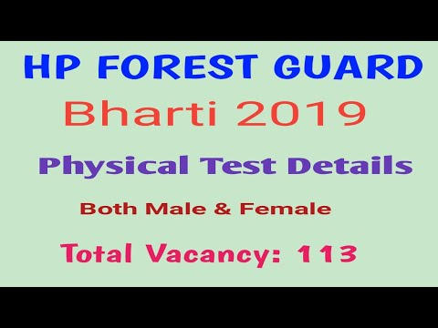 Hp Forest Guard Recruitment 2019 Hp Forest Guard Physical Efficiency Test Details 2019
