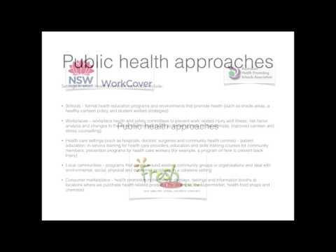 Health promotion strategies & approaches