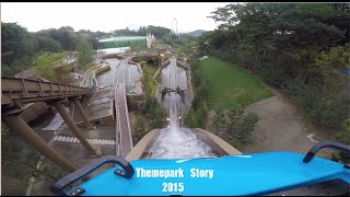 에버랜드 신규 후룸 라이드 썬더 폴스 탑승 영상 4K Full.ver (Everland New Flume Ride