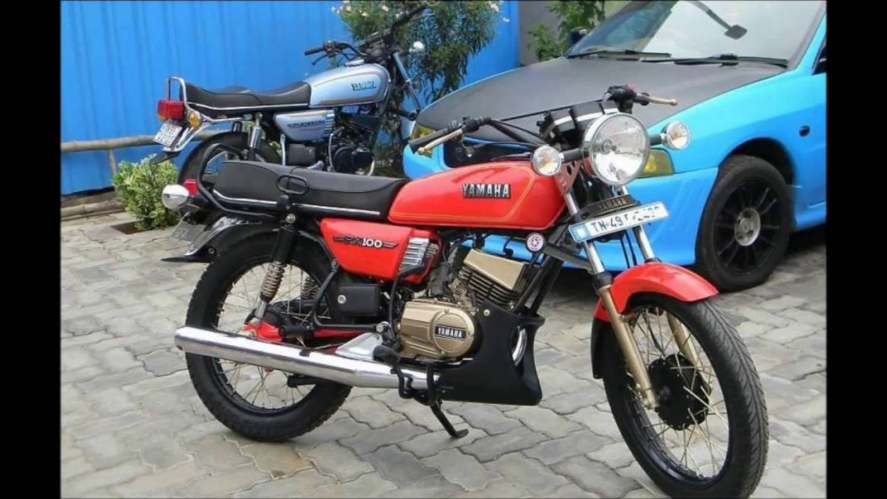 yamaha rx100 red bike modification youtube