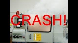 cnc lathe work accident crash  fails complation new