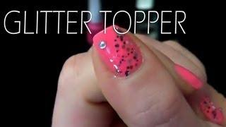 Nail Design Glitter Topper / Silvester Look