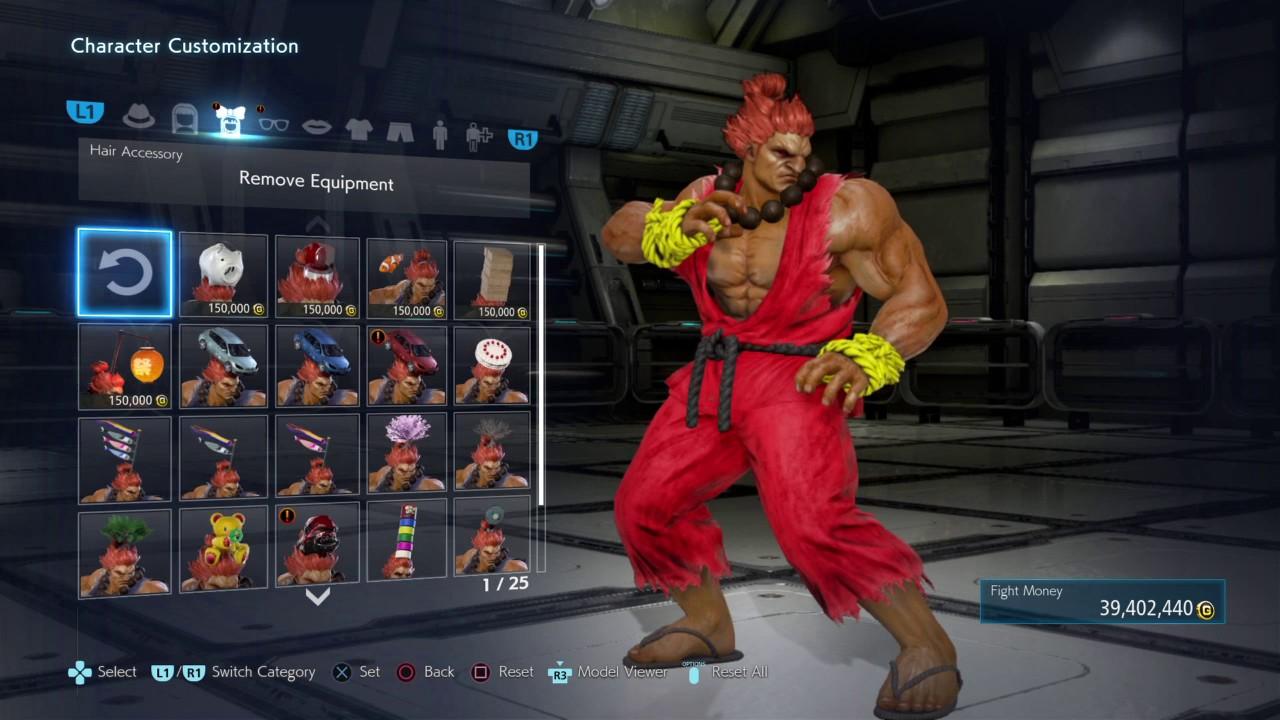 Tekken 7 Akuma As Street Fighter Ken Customization Tutorial Youtube