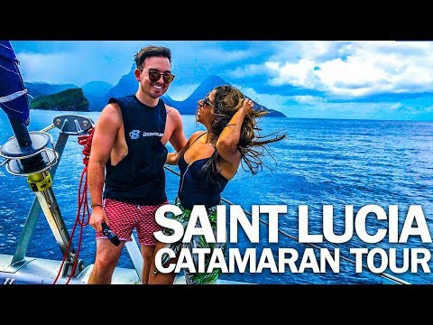 SAINT LUCIA CATAMARAN TOUR   MY POV