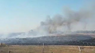 שריפות בכרמיה ובניר עם כתוצאה מעפיפוני תבערה