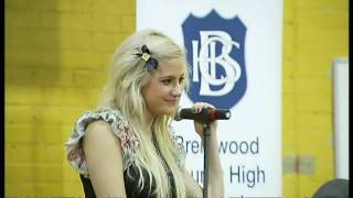 Pixie Lott goes back to school in Essex