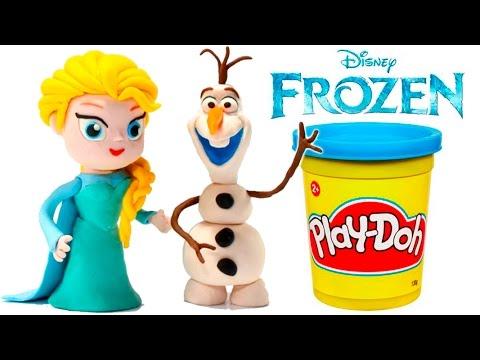 "FROZEN STOP MOTION Play Doh Clay Animated Video Elsa Disney Frozen ""Let It Go"" Frozen Toy Videos"