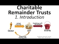 Charitable Remainder Trusts 1: Introduction