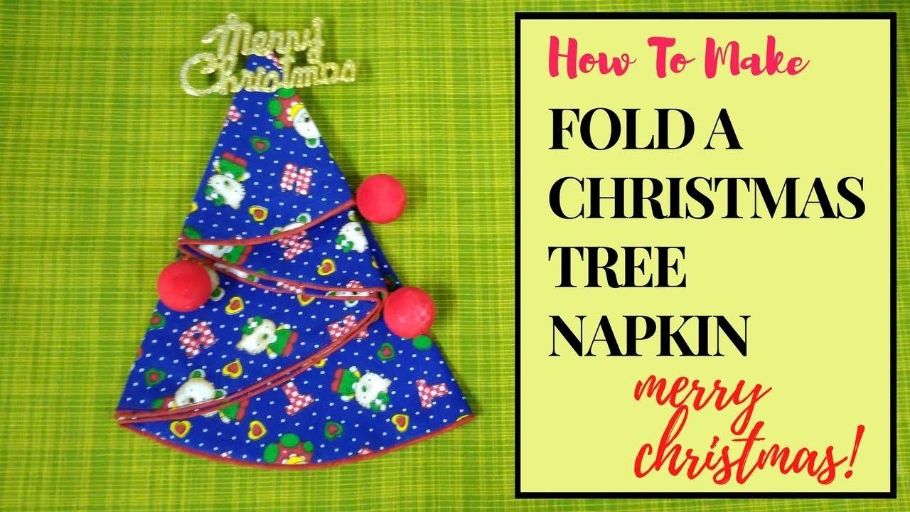 Christmas Tree Napkin Folding Tutorial 🎄 HOW TO | DIY 🎄 - YouTube