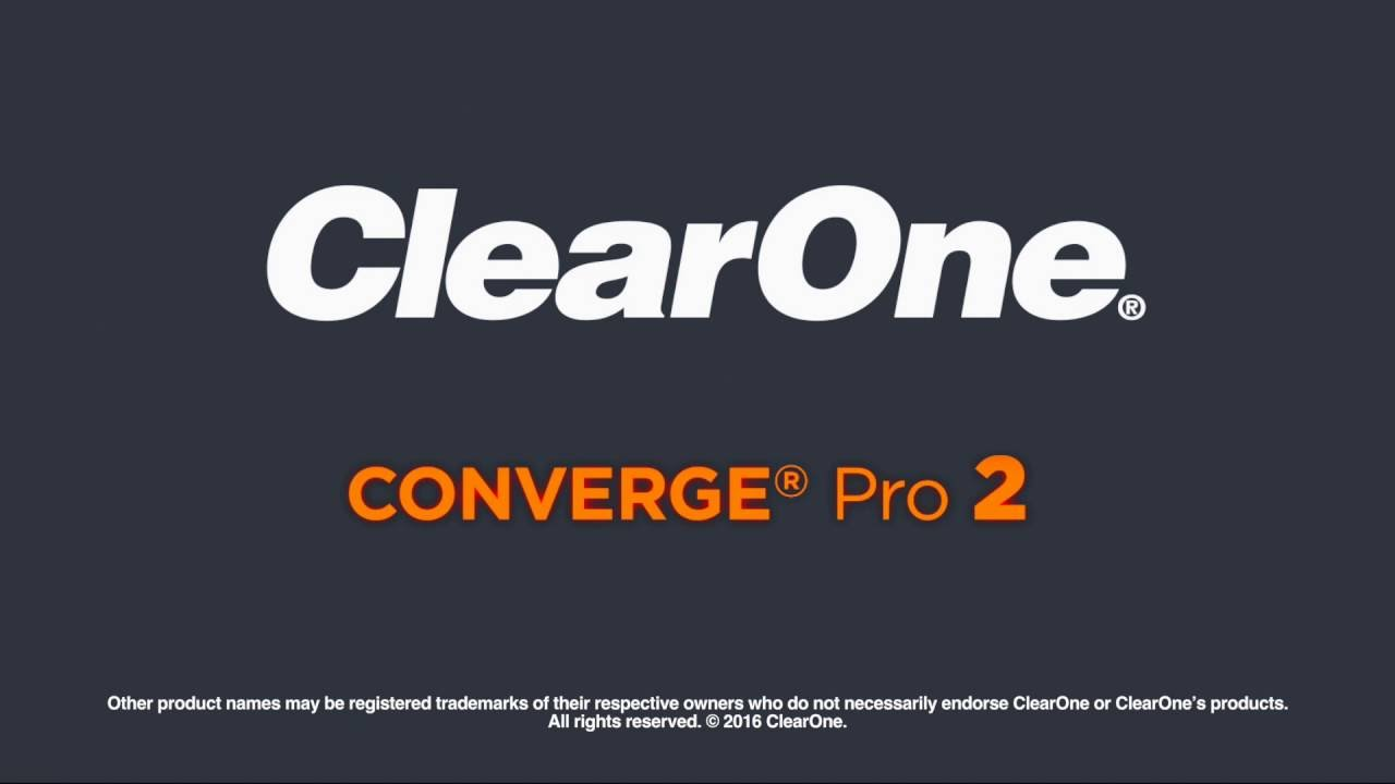 ClearOne CONVERGE Pro 2 DSP Mixers Now Compliant with Cisco