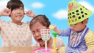 100均おもちゃジャンプボールで遊んだよ♪ kan & Aki family thumbnail