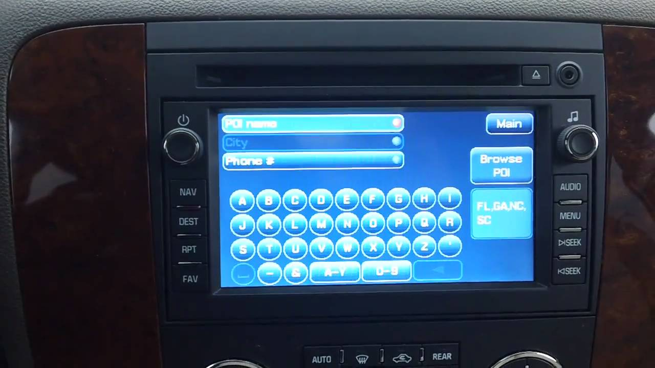How to use the gm navigation tahoe suburban avalanche silverado and traverse youtube