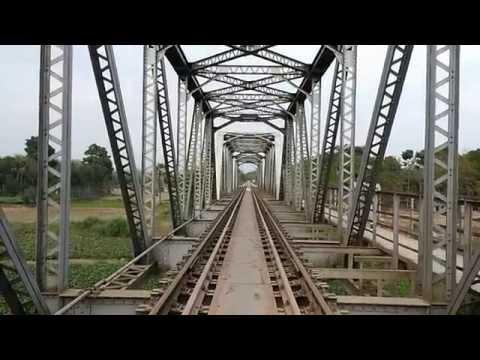 India Bangladesh Border Railway Bridge on Ichhamati River near Bongaon, West Bengal