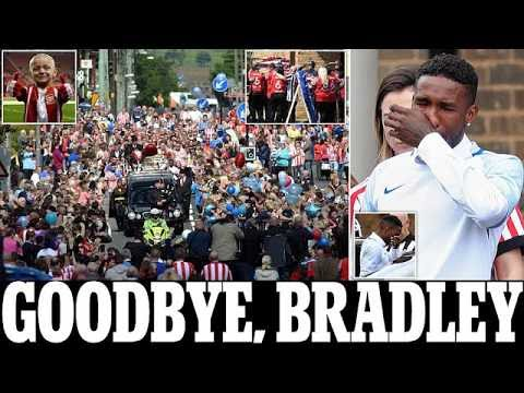Heartbroken Jermain Defoe breaks down at 'best friend' Bradley Lowery's funeral as the six year old'
