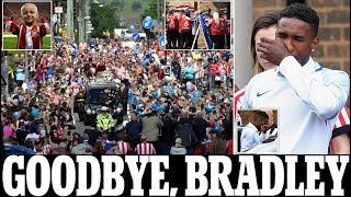 Heartbroken Jermain Defoe breaks down at 'best friend' Bradley Lowery's funeral as the six year old'