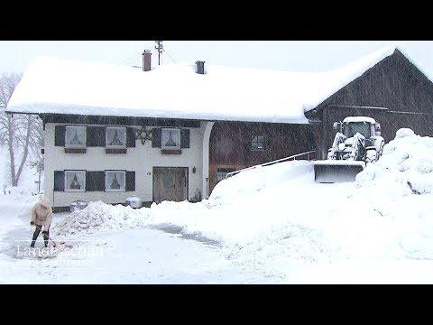 Schneegestöber im Allgäu