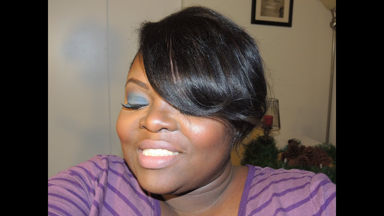 meagan good inspired hairstyle on short natural hair (mimics shaved side)