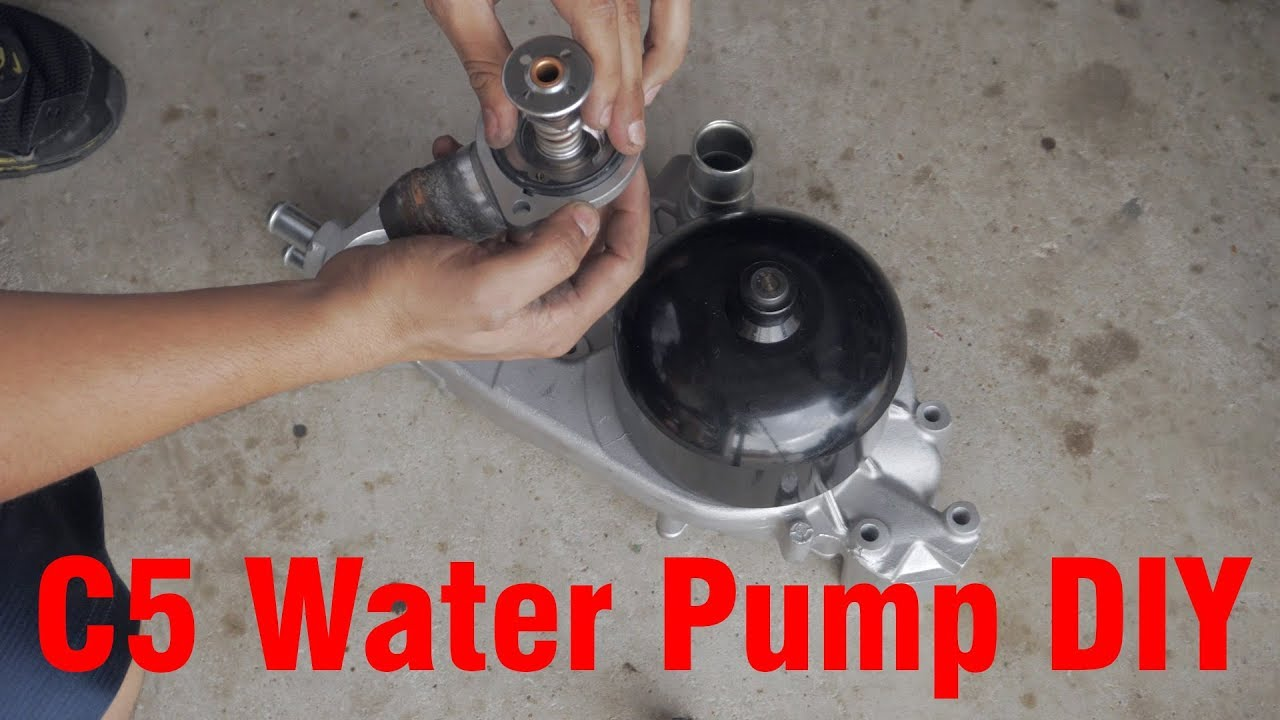 hight resolution of c5 corvette water pump and 160 degree thermostat install