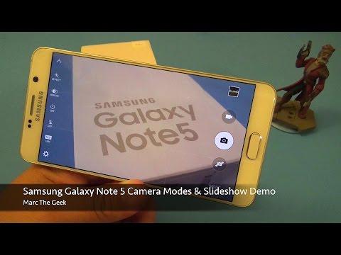 Samsung Galaxy Note 5 Camera Modes & Slideshow Demo