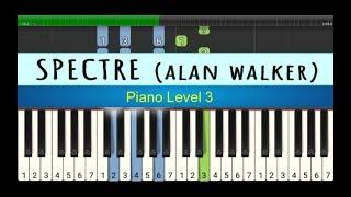 lagu piano spectre - alan walker - tutorial piano tingkat 3 - instrumen