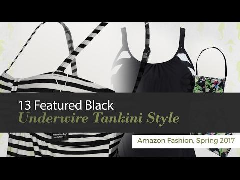 15 Featured Black Underwire Tankini Style Amazon Fashion, Spring 2017 thumbnail