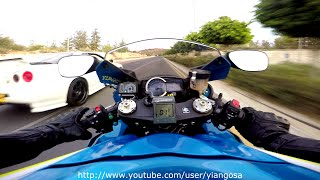 Suzuki GsxR 1000 VS Anything it Rolls