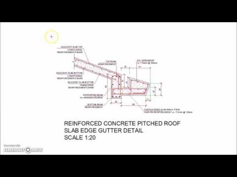 Concrete Pitched Roof Slab Edge Gutter Detail - YouTube