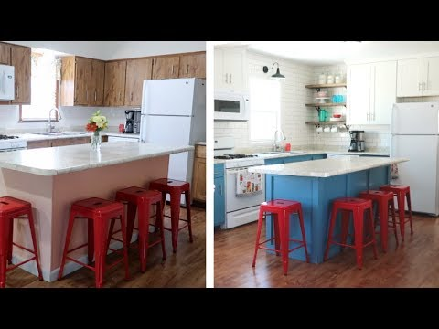 NEW!! Budget Kitchen Makeover Before & Afters (DIY Kitchen Remodel)