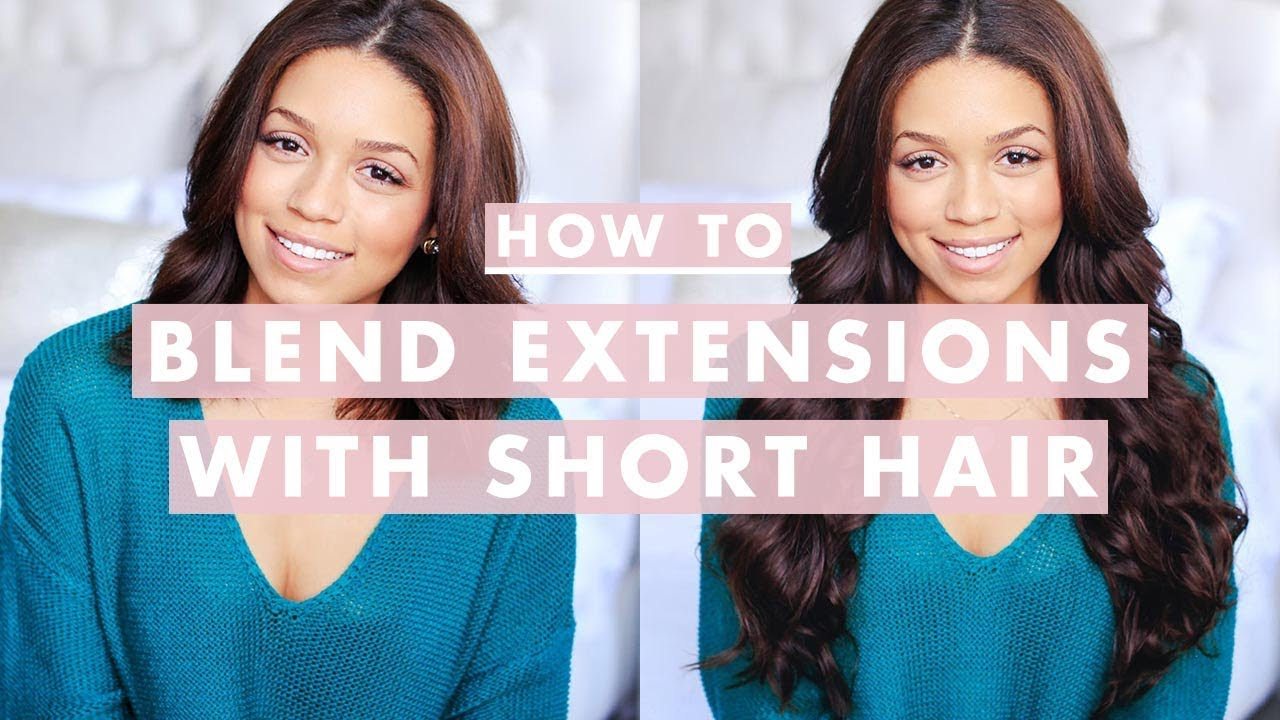 How To Clip In And Blend Hair Extensions With Shortmedium Length
