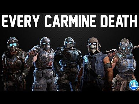 Gears Of War EVERY CARMINE DEATH (Gears 1 To Gears 5)