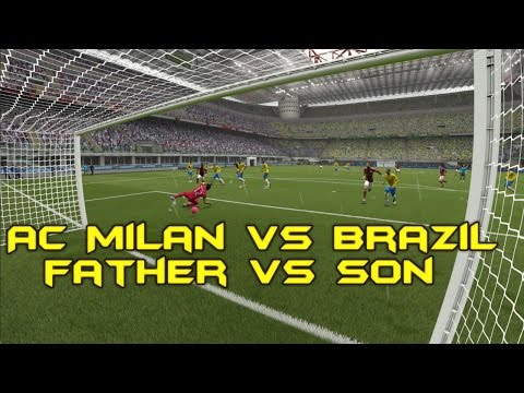 FIFA 2015: AC Milan*Father* vs Brazil*Son* (Xbox One)