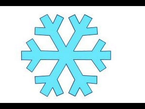 How to draw a simple snowflake - YouTube