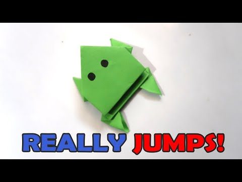 How To Make a Paper Jumping Frog | EASY Origami