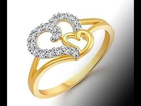 Latest Gold Diamond Finger Ring designs | 22k Senco Gold Wedding Rings Designs