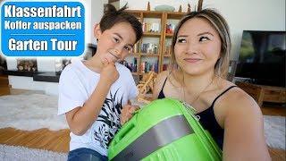 Klassenfahrt Koffer auspacken 🙊 Was ist drin? Garten Tour! Hochbeet bepflanzen VLOG | Mamiseelen