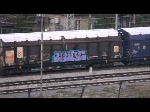 Bombed trains in Zagreb, Croatia